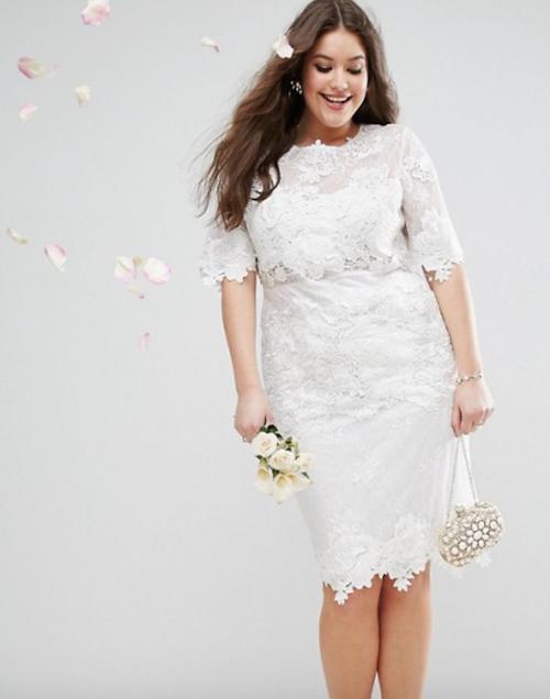 robe de mariée grande taille, asos curve