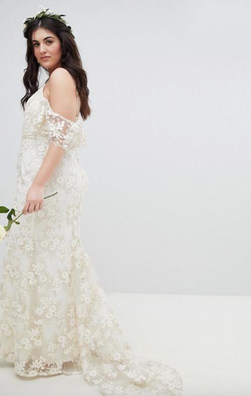 robe de mariée grande taille Asos Curve Wedding