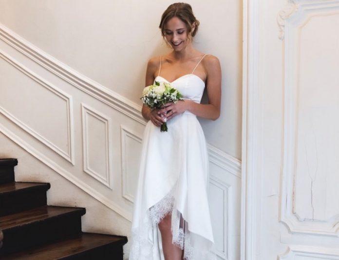 robes de mariée asymétriques collection 2019