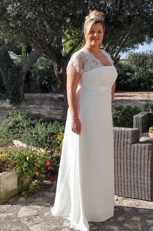 robe de mariée grande taille les mariées de Provence