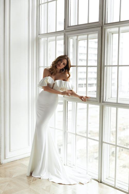 tendance mariage, mode mariage, robe de mariée à volants, tendance froufrous