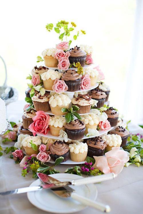 pièce montée cupcakes mariage