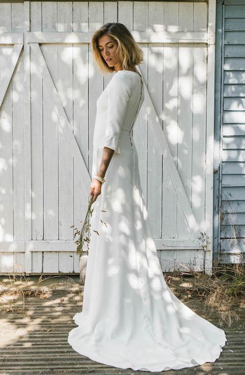 robe de mariée simple et élégante Lorafolk