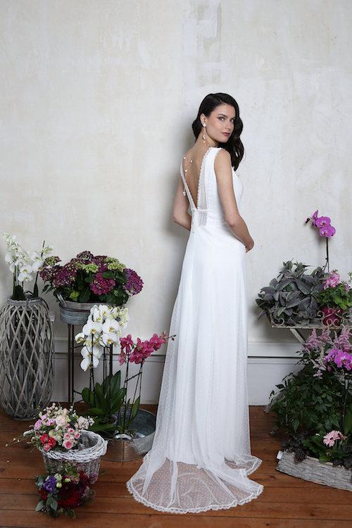 robe de mariée simple et élégante Elsa Gary