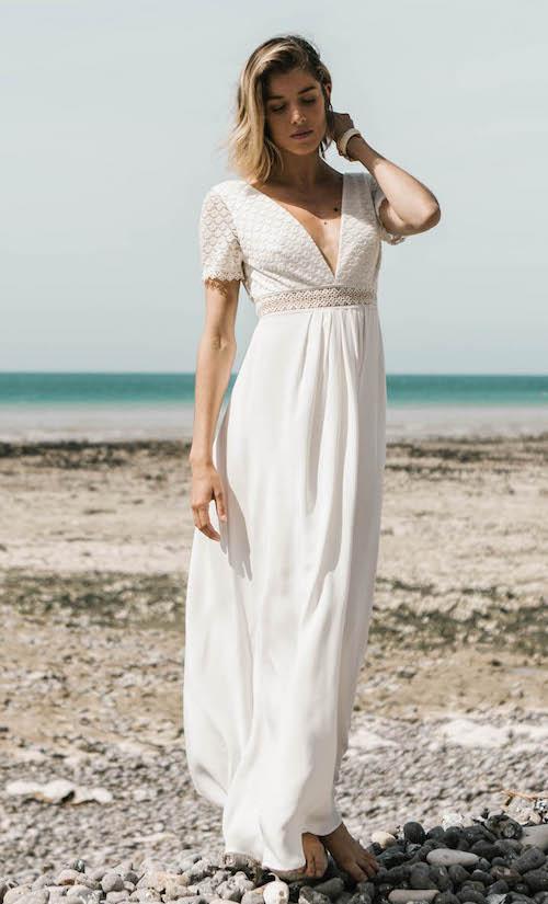 robe de mariée romantique plage