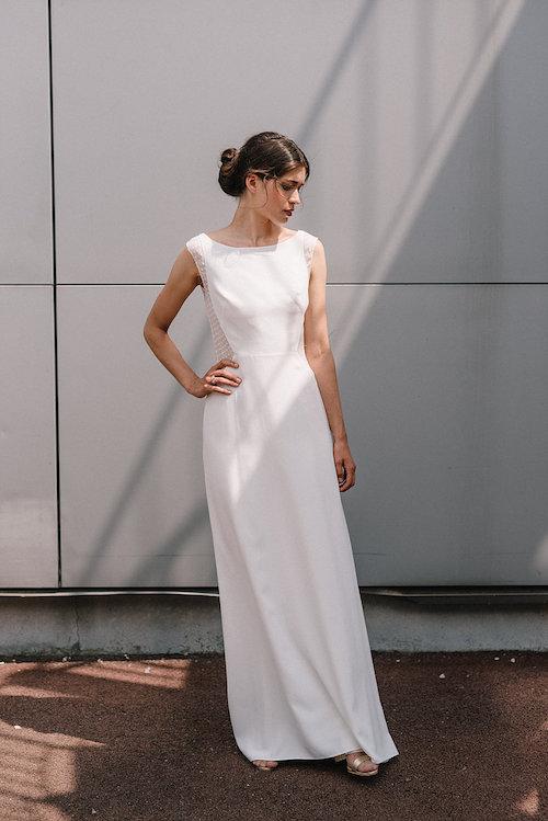 robe de mariée simple et élégante Mademoiselle de Guise