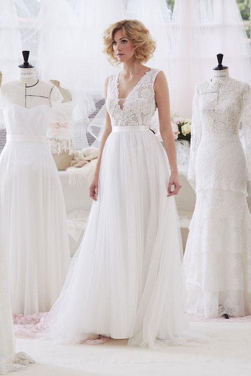 robe de mariée style ballerine, mariage sur le thème de la danse