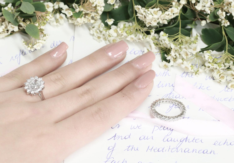 alliances et bagues de fiançailles en diamant, Baunat