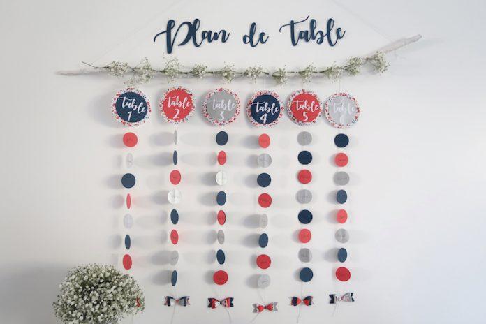 DIY plan de table mariage, décoration mariage