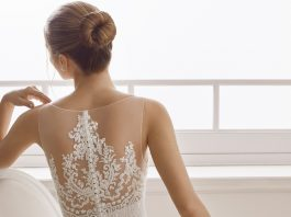 robe de mariée effet tatouage, tendance 2019