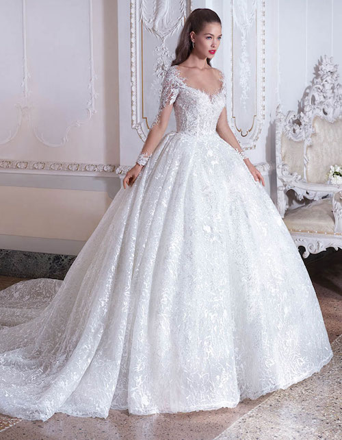 robe de mariée princesse volumineuse, collections 2019