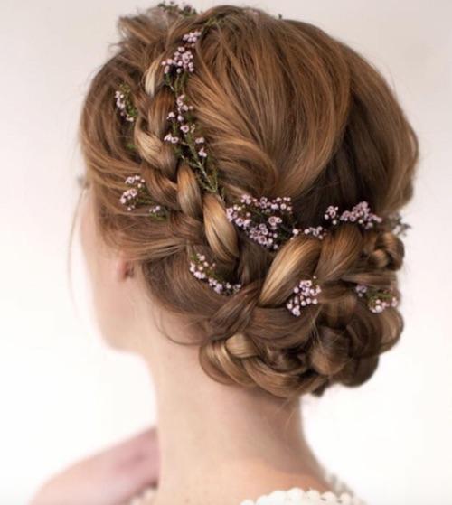 chignon tressé mariage, coiffure mariage tendance