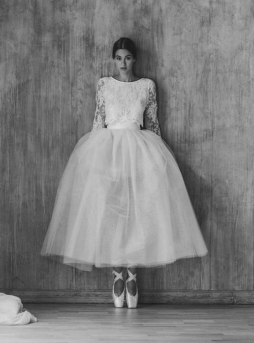 robe de mariée style ballerine, mode mariage 2019