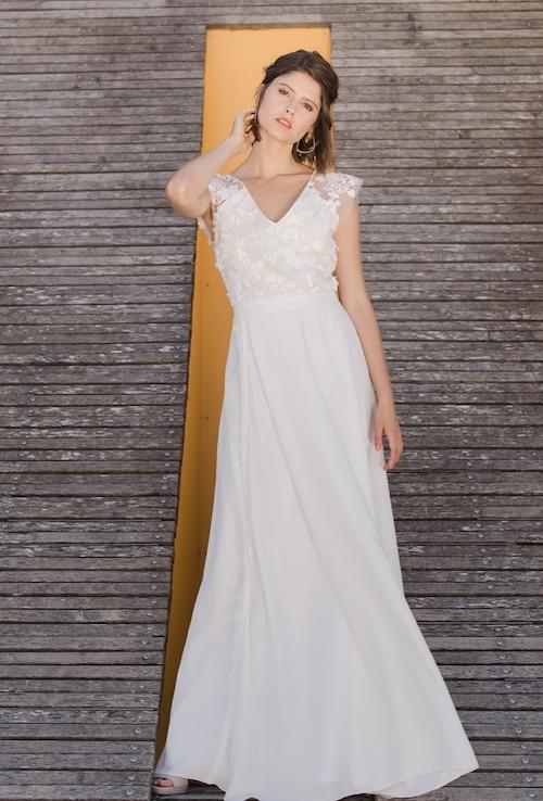 robe de mariée champêtre 2019, tendance mariage