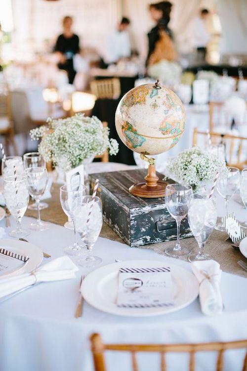 mariage thème voyage, mariage voyage