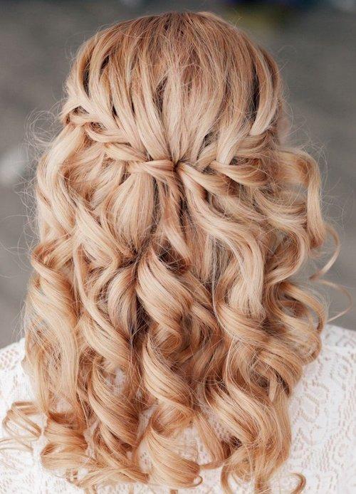 tresse en cascade, coiffure mariage tendance