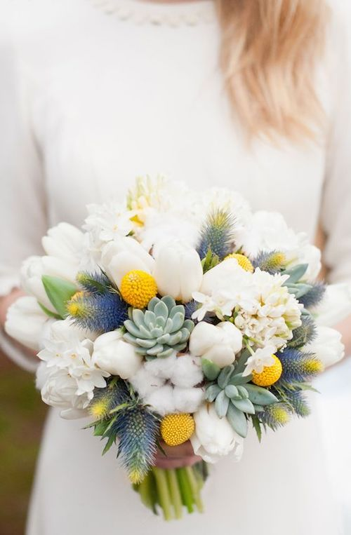 mariage d'hiver bouquet de fleurs