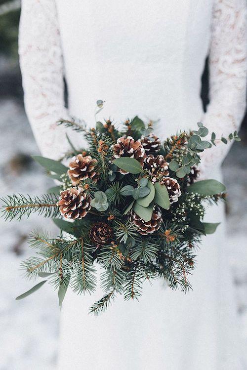 bouquet de fleurs mariage hiver