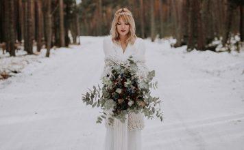 fleurs bouquet de mariée, mariage hiver