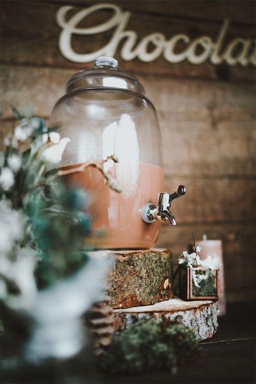 décoration mariage hiver