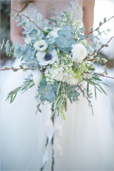 bouquet de fleurs mariage d'hiver