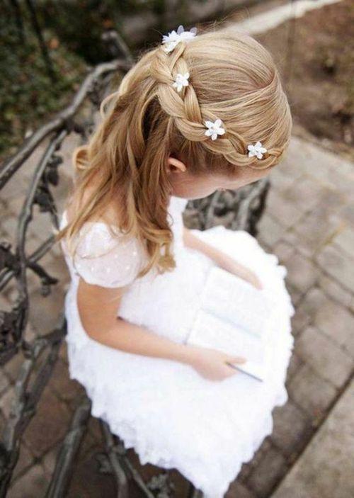Coiffures de mariage fille et cheveux longs