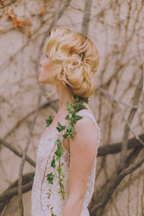 Idee coiffure cheveux mi long mariage