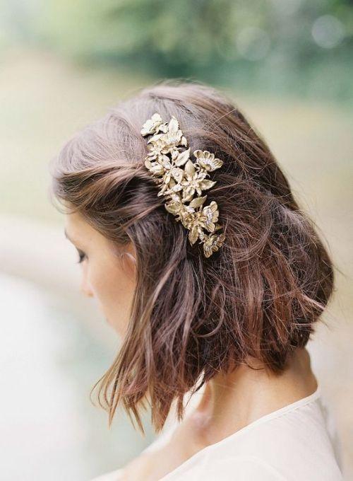 Les Plus Belles Coiffures De Mariage Sur Cheveux Courts Mariee Fr