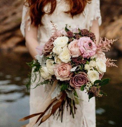 bouquet de mariage vintage