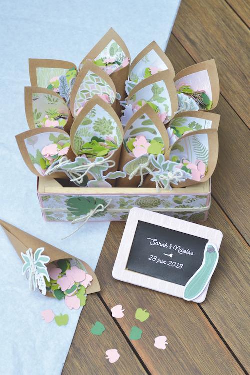 DIY mariage cônes confettis