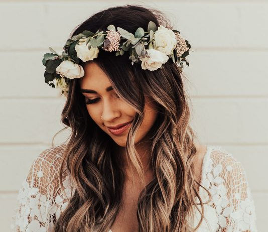 couronne de fleurs tendance mariage 2019