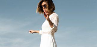 robe de mariée courte et simple