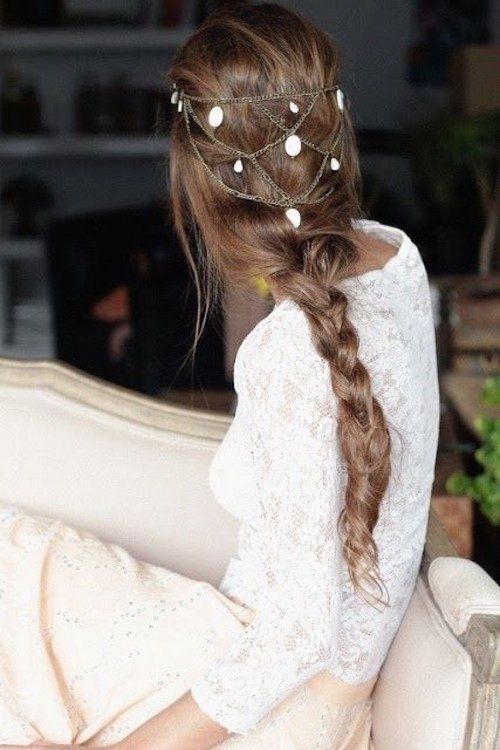 Coiffures de mariage pour cheveux long tresse