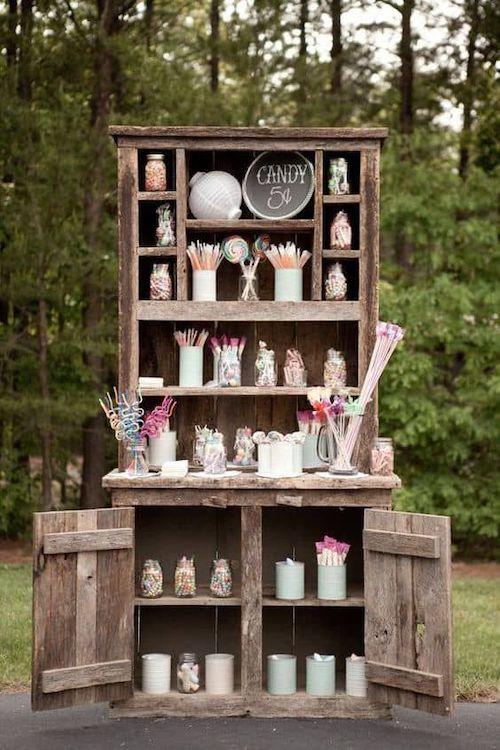candy bar mariage vintage