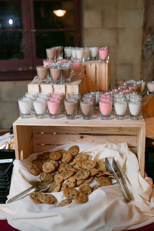 bar à lait, bar à cookie mariage