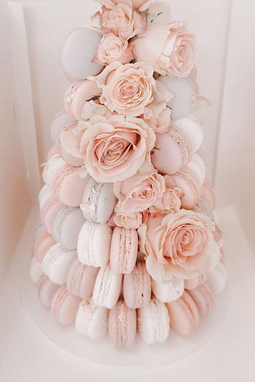 pièce montée mariage macarons