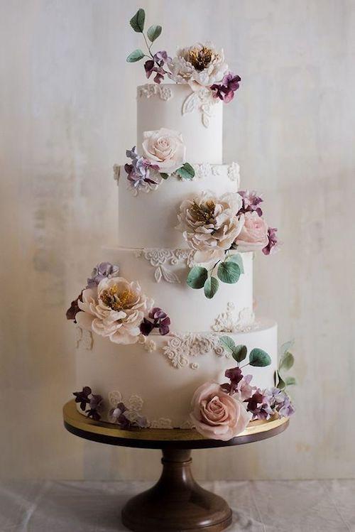 wedding cake mariage fleurs