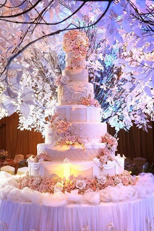 wedding cake spectaculaire mariage princesse