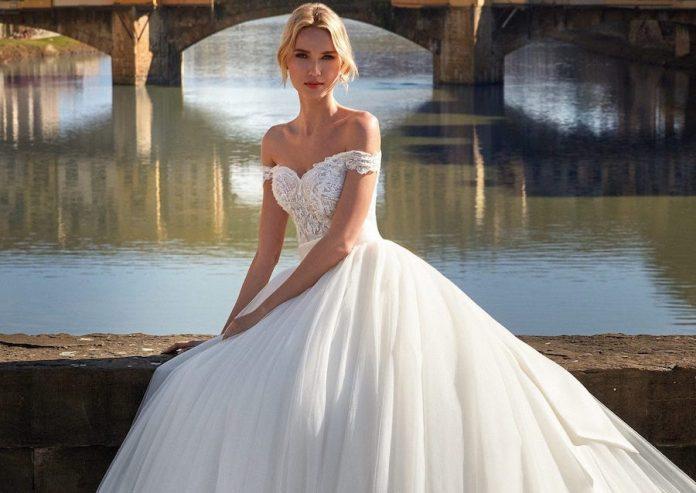 robe de mariée princesse volumineuse