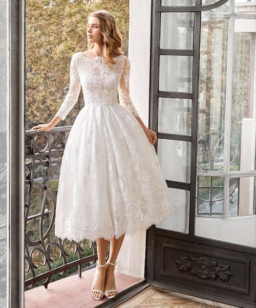 robe de mariée midi