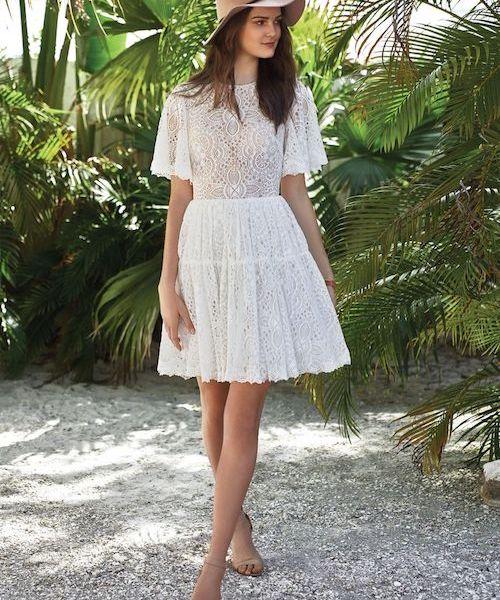 robe de mariée bohème courte dentelle