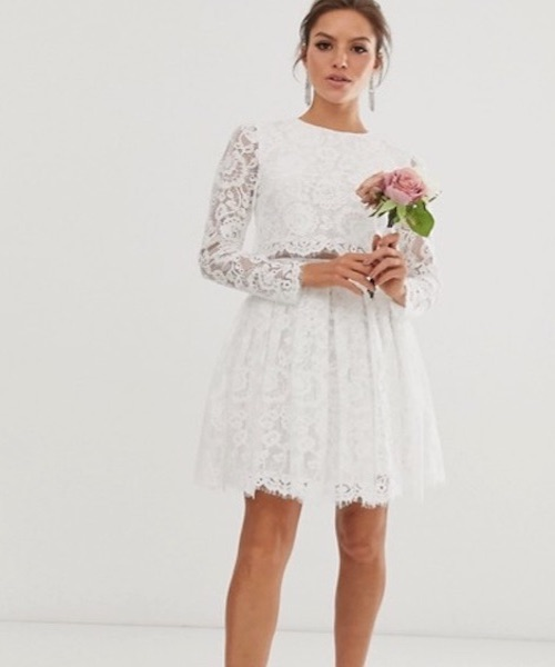 robe de mariée civile dentelle