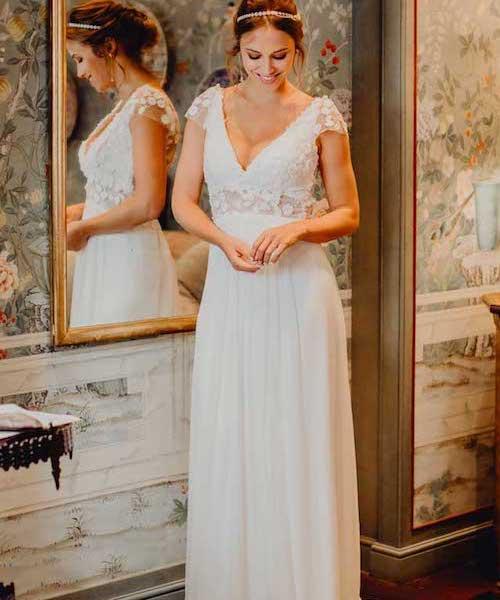 robe de mariée champetre