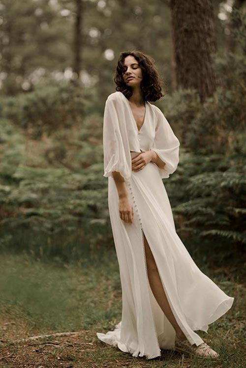 robe de mariée deux pièces