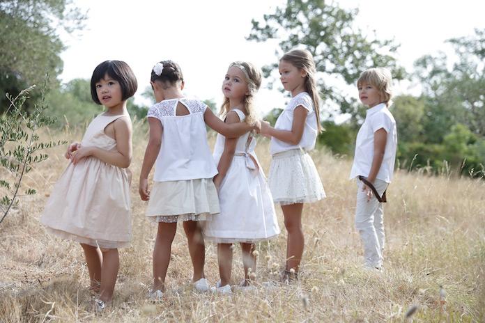 enfants mariage, cortège enfants