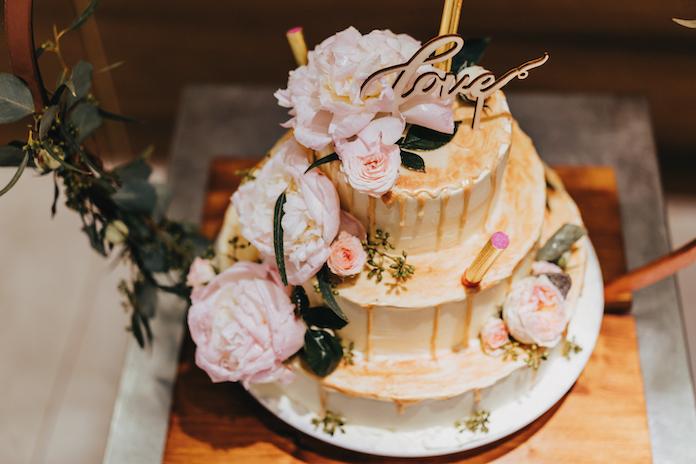 gâteau mariage fleurs