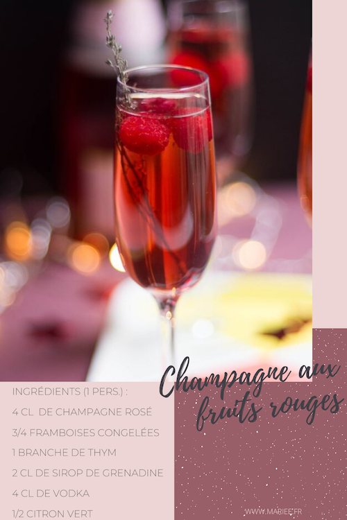 cocktail champagne mariage