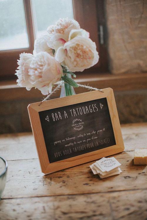 bar à tatouage éphémère mariage