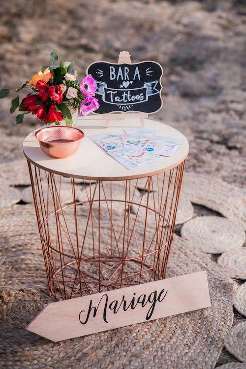 tattoo bar mariage