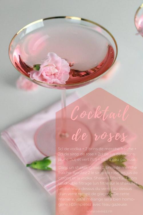 cocktail romantique mariage